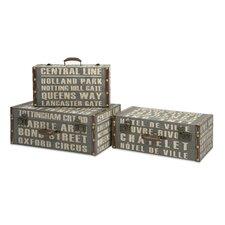 Central Line Suitcasesof 3 Piece Storage Box Set
