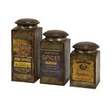 3-Piece Addie Vintage Label Canister Set