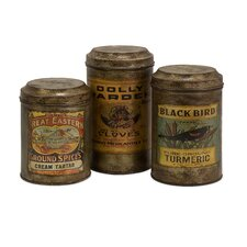 3-Piece Addie Vintage Label Jar Set