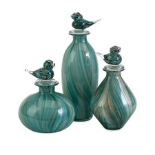 3 Piece Bellatrix Bird Stopper Decorative Bottle Set