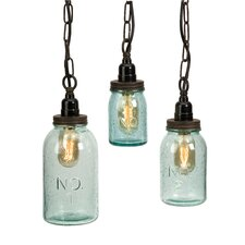 Lexington 3 Piece Mason Jar Mini Pendant Set (Set of 3)