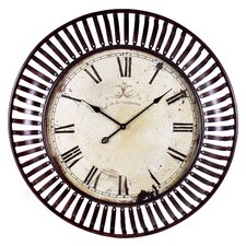 "Oversized 35"" Banded Wall Clock"