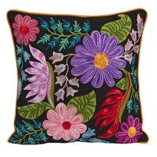Midnight Floral Cotton Throw Pillow