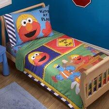 Construction Zone Sesame Street 4 Piece Toddler Set