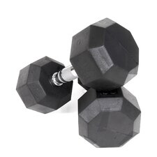 35 lbs Rubber Encased Octagonal Dumbbells (Set of 2)