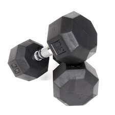 30 lbs Rubber Encased Octagonal Dumbbells (Set of 2)