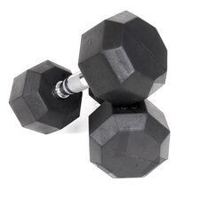 Rubber Encased Octagonal Dumbbell