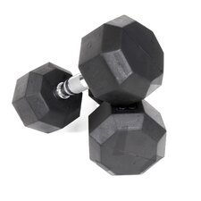 12 lbs Rubber Encased Octagonal Dumbbells (Set of 2)