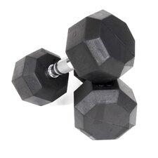 20 lbs Rubber Encased Octagonal Dumbbells (Set of 2)
