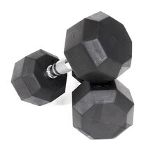 5 lbs Rubber Encased Octagonal Dumbbells (Set of 2)