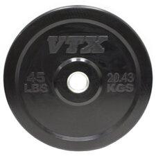 VTX 45 lbs Solid Rubber Bumper Plate