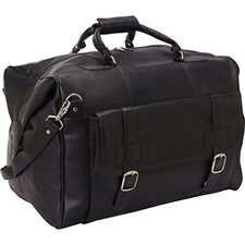 "19"" Leather Laptop Weekender Duffel"