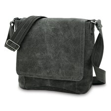 Vertical Simple Distressed Messenger Bag