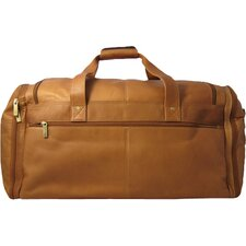 "20.5"" Leather Multi Pocket Travel Duffel"