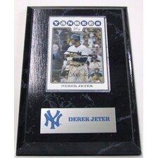 MLB Derek Jeter Card Plaque - New York Yankees