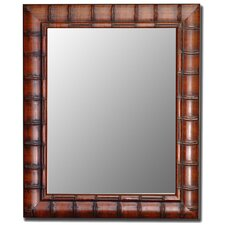Fruitwood Bamboo Framed Wall Mirror