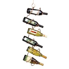 Climbing Tendril Copper 6 Bottle Wall Mount Wine Rack