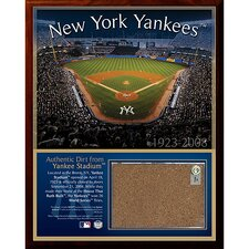 Original Yankee Stadium Dirt Plaque