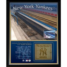 New York Yankees Game Used Dugout Bench Memorabilia Plaque