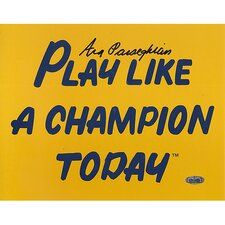 Ara Parseghian Play Like A Champion Today Autographed