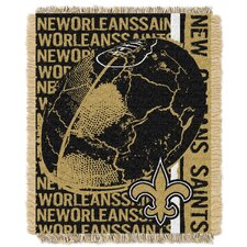 NFL New Orleans Saints Triple Woven Jacquard Throw Blanket