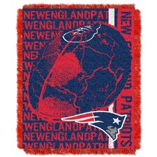NFL New England Patriots Triple Woven Jacquard Throw Blanket