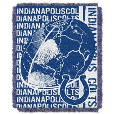NFL Indianapolis Colts Triple Woven Jacquard Throw Blanket