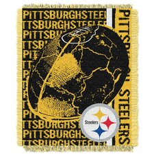 NFL Pittsburgh Steelers Triple Woven Jacquard Throw Blanket