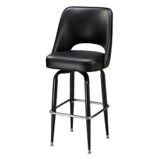 Cut-Out Back Bucket Swivel Bar Stool