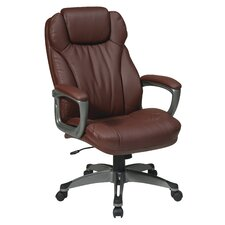 Eco Leather Executive Chair with Padded Arms