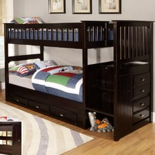 Twin over Twin Staircase Bunk Bed