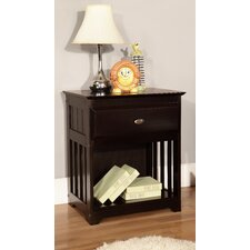 Espresso 1 Drawer Nightstand