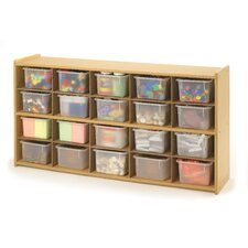 Value Line 20 Cubbie Storage with Opaque Trays