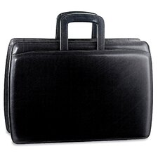 Elements Double Gusset Leather Briefcase