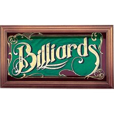 Novelty Items Mirrored Billiard Sign
