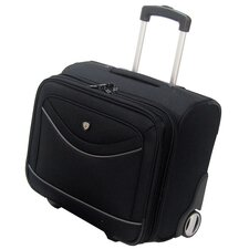 "Deluxe 14"" Rolling Overnighter Business Tote"