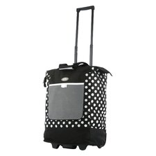 "Polka Dot 19"" Rolling Shopping Tote Bag"