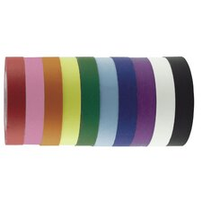 "1"" x 60 Yards 12 Pack of Assorted Color Kraft Tape Rolls (Set of 12)"