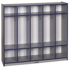 5-Section Coat Locker - Straight
