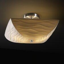 Porcelina Ring 2 Light Semi Flush Mount