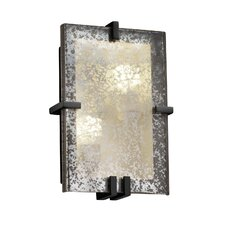Fusion Clips Rectangle 2 Light Wall Sconce