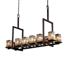 Montana Fusion 12-Up and 5-Down Light Tall Bridge Chandelier