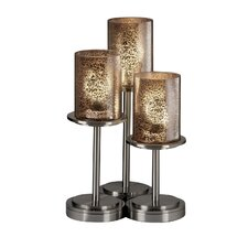 "Fusion Dakota Portable 16"" H Table Lamp with Drum Shade (Set of 3)"