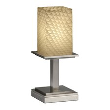 "Fusion Montana Portable 12.75"" H Table Lamp with Rectangular Shade"