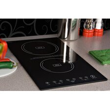"11.38"" Electric Induction Cooktop with 2 Burners"