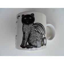 "Vintage French Le Chat Alle ""Winged Cat"" 11 oz. Mug (Set of 2)"