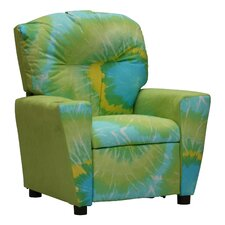 Mixy Tie Dyed Lime Suede Kid's Recliner