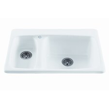 "Reliance 33"" x 22.25"" Advantage Double Bowl Kitchen Sink"