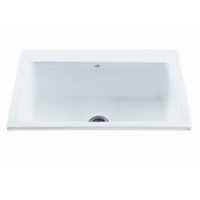 "Reliance 33"" x 22.25"" Reflection Single Bowl Kitchen Sink"