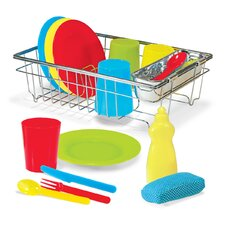 23 Piece Let's Play House! Wash and Dry Dish Set
